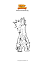 Dibujo para colorear Pokemon Toxtricity