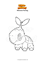 Dibujo para colorear Pokemon Turtwig