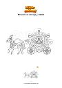 Dibujo para colorear Princesa con carruaje y caballo