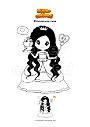Dibujo para colorear Princesa con rana