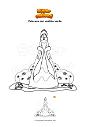Dibujo para colorear Princesa con vestido verde