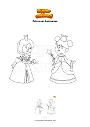 Dibujo para colorear Princesas hermanas