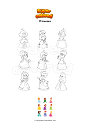 Dibujo para colorear Princesas