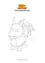 Dibujo para colorear Roblox Adopt Me Dragon