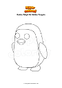 Dibujo para colorear Roblox Adopt Me Golden Penguin