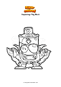 Dibujo para colorear Superzings Tag Black