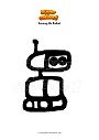 Disegno da colorare Among Us Robot