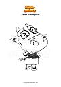 Disegno da colorare Animal Crossing Belle