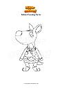 Disegno da colorare Animal Crossing Carrie