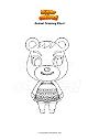 Disegno da colorare Animal Crossing Cheri