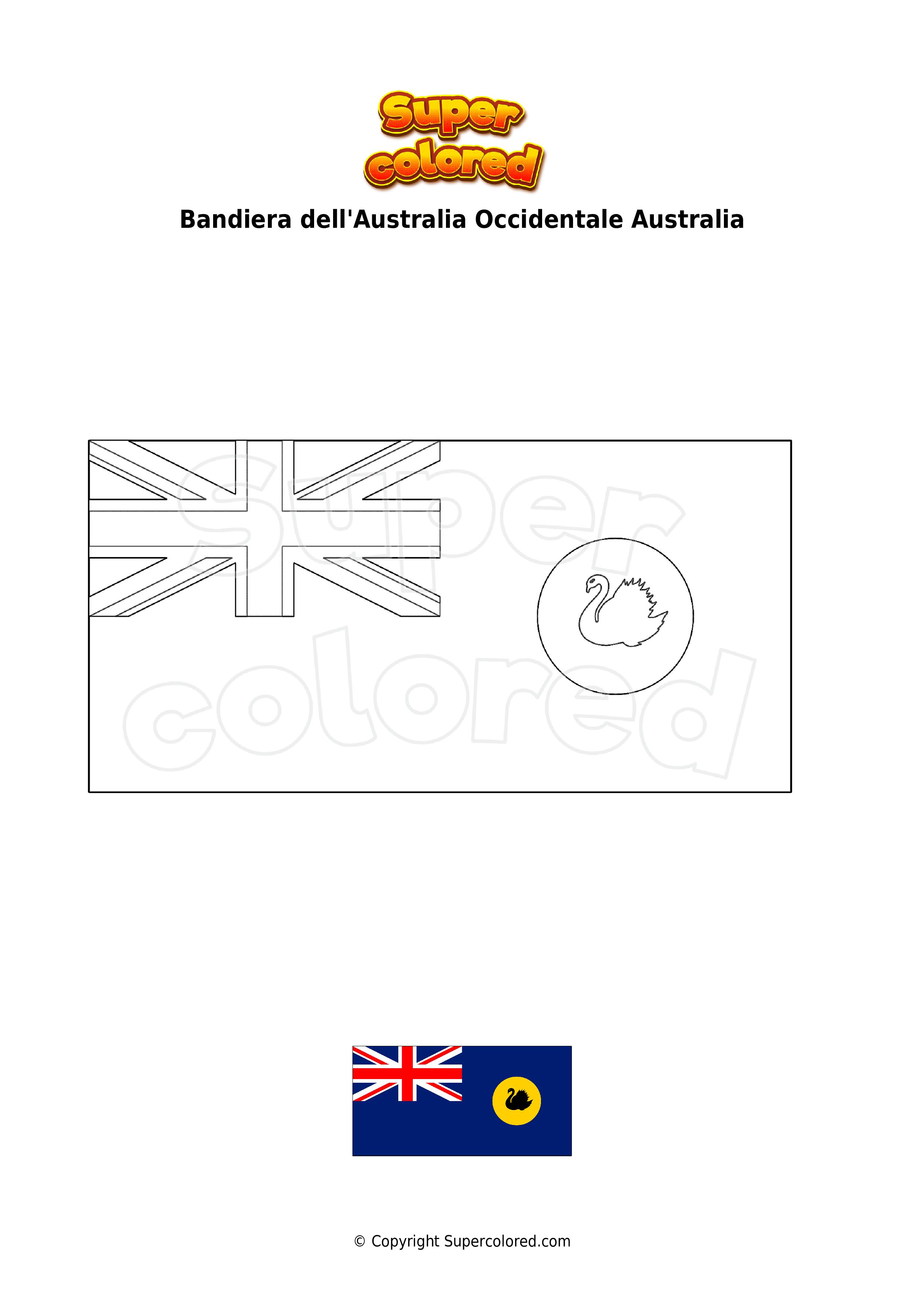 Cartina Marocco Da Colorare.Bandiera Australiana Da Colorare