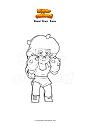 Disegno da colorare Brawl Stars  Rosa
