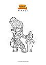 Disegno da colorare Brawlhalla jhala