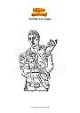 Disegno da colorare Fortnite love ranger