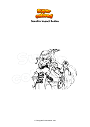 Disegno da colorare Genshin Impact Beidou