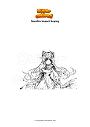 Disegno da colorare Genshin Impact Keqing
