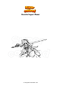 Disegno da colorare Genshin Impact Razor