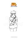Disegno da colorare Kawaki bambino