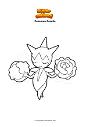 Disegno da colorare Pokemon Roselia