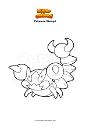 Disegno da colorare Pokemon Skorupi