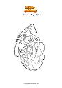 Disegno da colorare Pokemon Tapu Lele