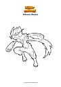 Disegno da colorare Pokemon Zeraora