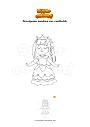 Disegno da colorare Principessa bambina con vestito blu