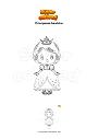 Disegno da colorare Principessa bambina