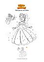 Disegno da colorare Principessa con fatina
