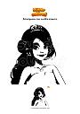 Disegno da colorare Principessa con vestito azzurro