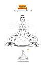 Disegno da colorare Principessa con vestito verde