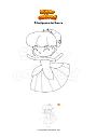 Disegno da colorare Principessa del bosco