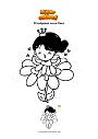 Disegno da colorare Principessa su un fiore