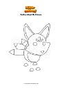 Disegno da colorare Roblox Adopt Me Kitsune