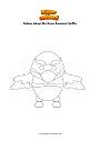 Disegno da colorare Roblox Adopt Me Neon Diamond Griffin