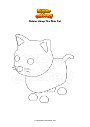 Disegno da colorare Roblox Adopt Me Pink Cat