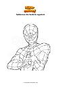 Disegno da colorare Spiderman che lancia la ragnatela