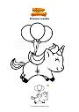 Disegno da colorare Unicorno colorato